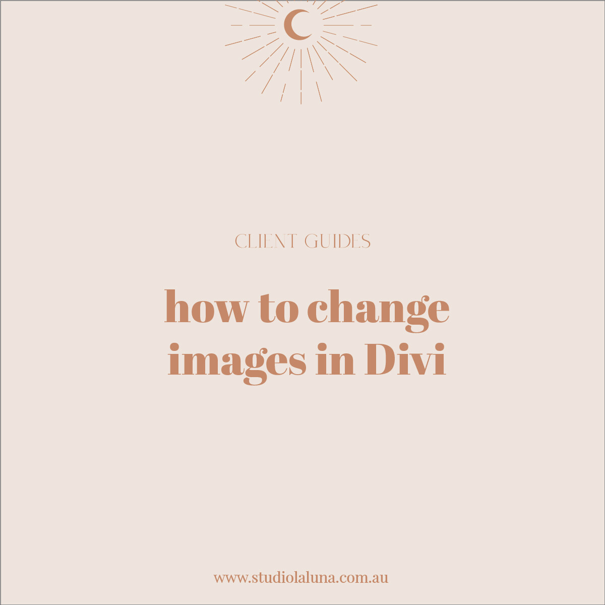 How to change images in Divi